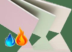 Гипсокартон влаго-огнестойкий