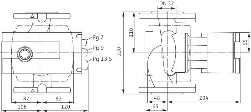 Насос циркуляционный Wilo Stratos 32/1-12 ( 2090452)