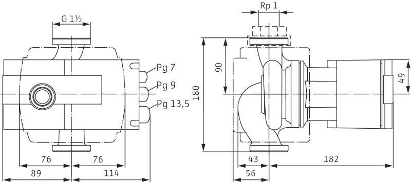 Насос циркуляционный Wilo Stratos 25/1-4 (2104225)