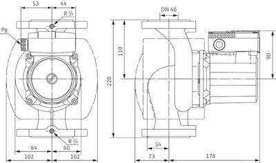 Насос циркуляционный Wilo TOP-S 40/7 DM PN10 (2080043) цена