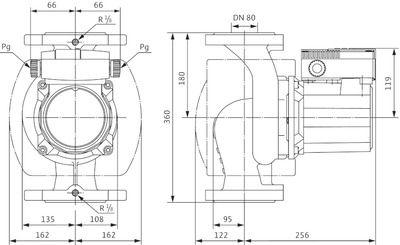 Насос циркуляционный Wilo TOP-S 80/10 DM PN10 (2080066) цена