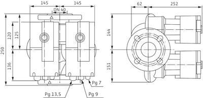 Насос циркуляционный Wilo Stratos-D 40/1-12 (2090464) цена