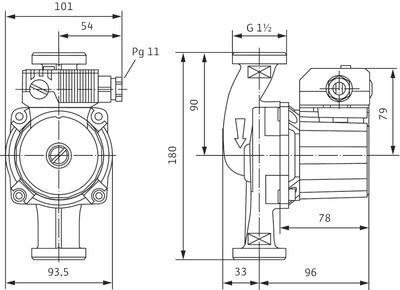 Насос циркуляционный Wilo Star-Z 25/6 EM (4047573) цена