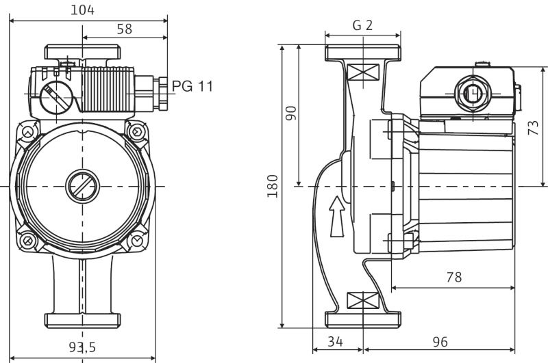 Насос циркуляционный Wilo Star-RS 30/4 (для сервиса) (4119790)