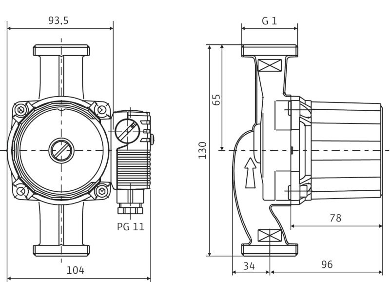Насос циркуляционный Wilo Star-RS 15/2-130 (4063801)