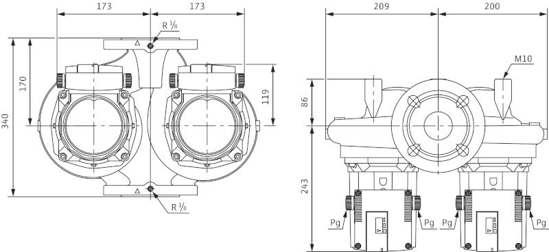 Насос циркуляционный Wilo TOP-SD 50/15 DM (2080086)