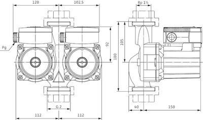 Насос циркуляционный Wilo TOP-SD 30/5 EM (2044015) цены