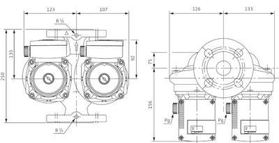 Насос циркуляционный Wilo TOP-SD 40/3 EM (2044017) цена
