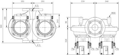 Насос циркуляционный Wilo TOP-SD 80/15 DM PN6 (2080094) цена