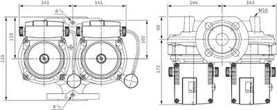 Насос циркуляционный Wilo TOP-STGD 32/10 EM (2131750) цена