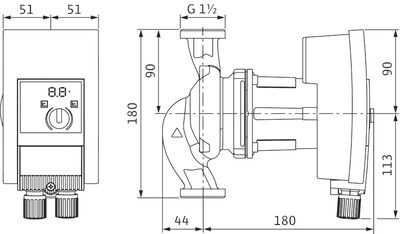 Насос циркуляционный Wilo Yonos MAXO 25/0,5-10 (2120640) цена
