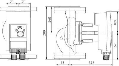 Насос циркуляционный Wilo Yonos MAXO 50/0,5-9 (2120650) цены