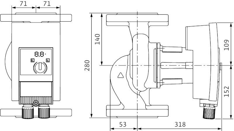 Насос циркуляционный Wilo Yonos MAXO 50/0,5-12 (2120651)