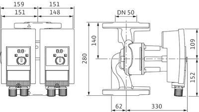 Насос циркуляционный Wilo Yonos MAXO-D 50/0,5-12 (2120668) цены