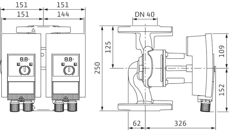 Насос циркуляционный Wilo Yonos MAXO-D 40/0,5-12 (2120665)