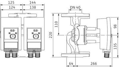 Насос циркуляционный Wilo Yonos MAXO-D 40/0,5-8 (2120664) цена