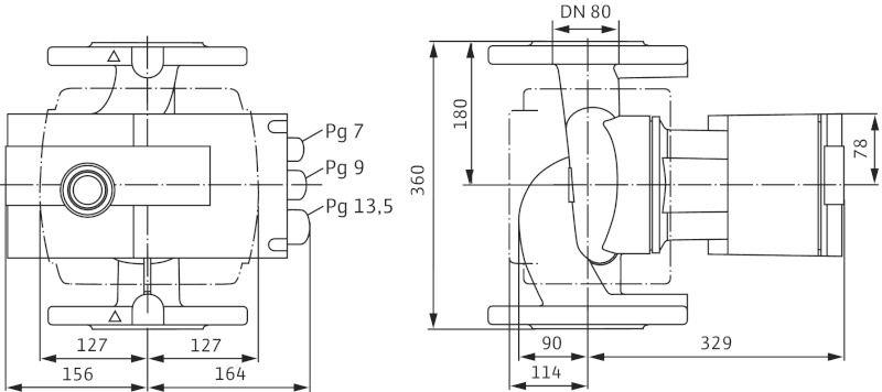 Насос циркуляционный Wilo Stratos 80/1-6 PN6 (2146342)