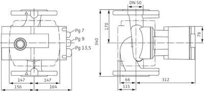 Насос циркуляционный Wilo Stratos 50/1-16 (2150590) цена