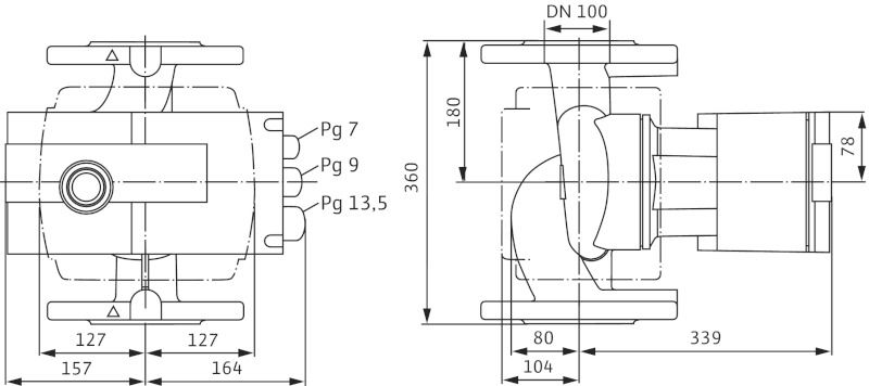 Насос циркуляционный Wilo Stratos 100/1-12 PN10 (2150595)
