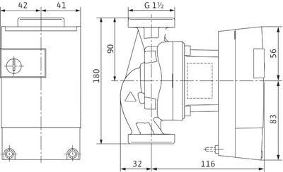 Насос циркуляционный Wilo Yonos ECO 25/1-5 BMS (2150700) цена