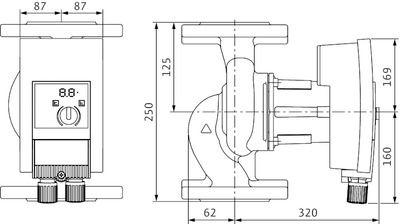 Насос циркуляционный Wilo Yonos MAXO 40/0,5-16 (2120648) цена
