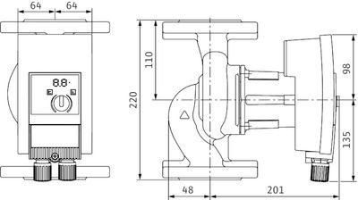 Насос циркуляционный Wilo Yonos MAXO 40/0,5-8 (2120646) цена