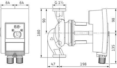 Насос циркуляционный Wilo Yonos MAXO 25/0,5-12 (2120641) цены