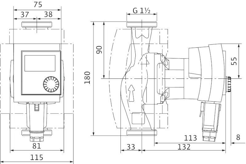 Насос циркуляционный Wilo Stratos PICO-Z-25/1-6 (4184693)