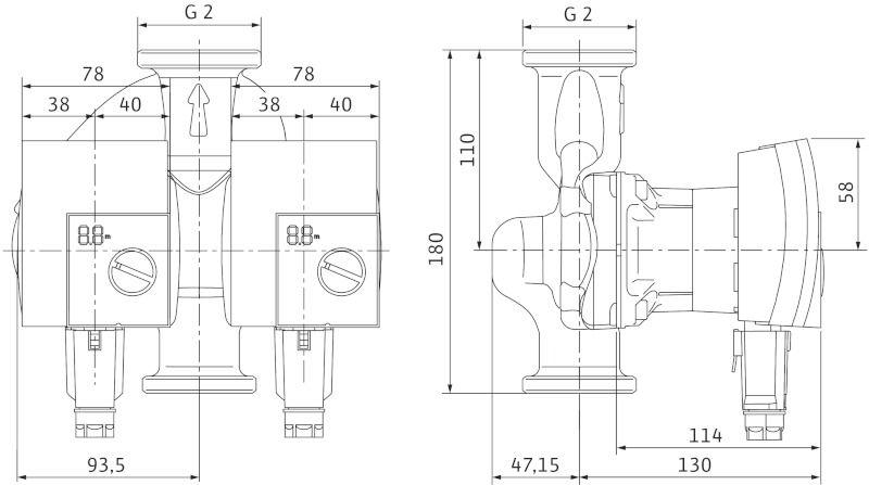 Насос циркуляционный Yonos PICO-D 30/1-8 (4188979)