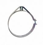 Скоба крепежная из нержавеющей стали; 0,5мм ф140/150