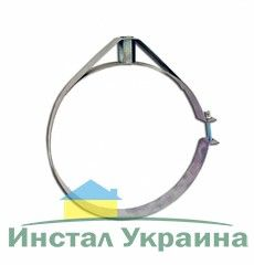 Скоба крепежная из нержавеющей стали; 0,5мм ф130