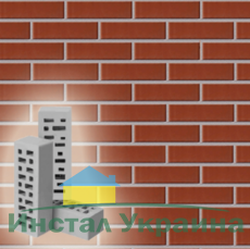 Кирпич облицовочный Евротон красный брусок