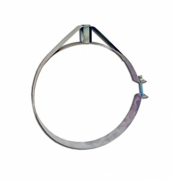 Скоба крепежная из нержавеющей стали; 0,5мм ф320
