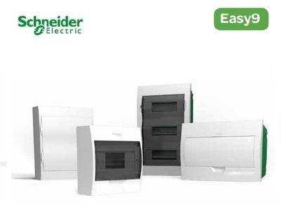 Schneider electric EZ9 Щит пластиковый навесной. Дымчатые двери 3 Ряда 36 Модулей+2КК (EZ9E312S2S) цена