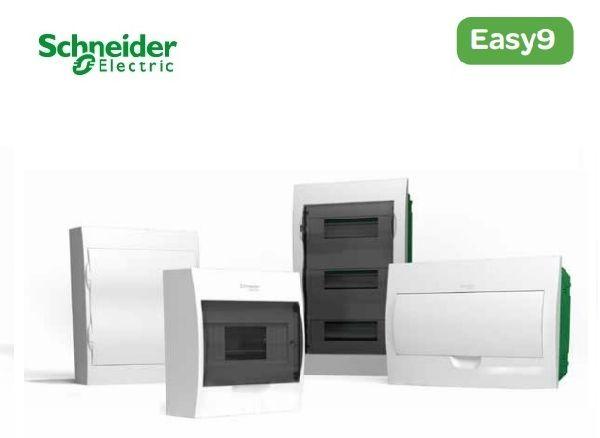 Schneider electric EZ9 Щит пластиковый навесной. Дымчатые двери 3 Ряда 36 Модулей+2КК (EZ9E312S2S)