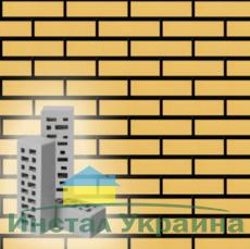 Кирпич облицовочный Евротон желтый брусок