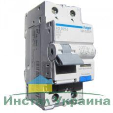 HAGER Дифференциальный автоматический выключатель 1+N, 25A, 30 mA, B, 6 КА, A, 2м (AD925J)