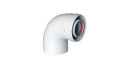 Отвод коаксиальный Baxi 80/125 90*
