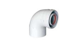 Отвод коаксиальный Baxi 80/125 90°