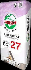 Anserglab ВСТ-27 Шпаклевка фасадная финишная светло-серая 20 кг