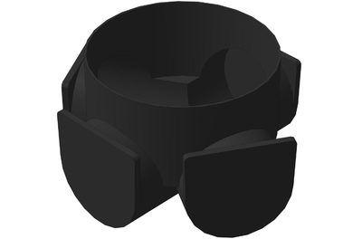 Колодец смотровой д.1100 мм (кольцо с дном 500 мм + конус + днище с лотком) цены
