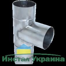ТРОЙНИК из нержавеющей стали (AISI 304) с термоизоляцией в нержавеющем кожухе 90 град; 0,5 мм ф220/280