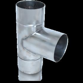 ТРОЙНИК из нержавеющей стали (AISI 304) с термоизоляцией в нержавеющем кожухе 90 град; 0,5 мм ф300/360