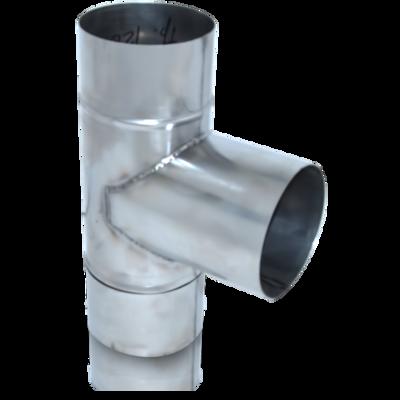 ТРОЙНИК из нержавеющей стали (AISI 304) с термоизоляцией в нержавеющем кожухе 90 град; 0,5 мм ф140/200 цены