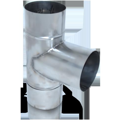 ТРОЙНИК из нержавеющей стали (AISI 304) с термоизоляцией в нержавеющем кожухе 90 град; 0,5 мм ф110/170