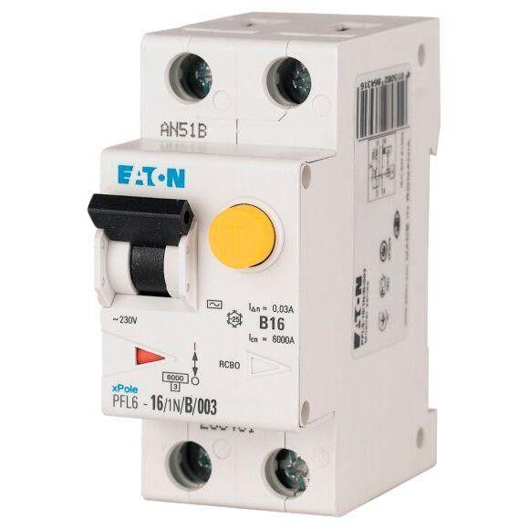 Eaton Дифференциальный автоматический выключатель PFL6-6/1N/C/0,03 (286464)