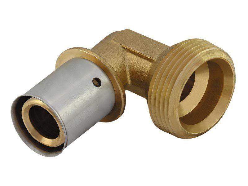 """KAN Отвод Press c пресс-кольцом с наружной резьбой 20xG1/2"""" K-081025"""