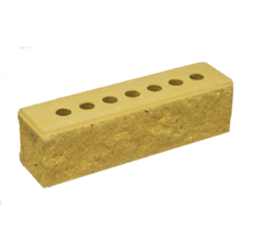 Кирпич Литос узкий колотый с фаской желтый