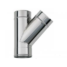 ТРОЙНИК из нержавеющей стали (AISI 304) с термоизоляцией в нержавеющем кожухе 45 град; 1,0 мм ф250/310