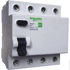 """Schneider electric Дифференциальный выключатель напряжения EZ9, 4Р; 0,03А; 63А; ТИП """"АС"""" (EZ9R34463)"""